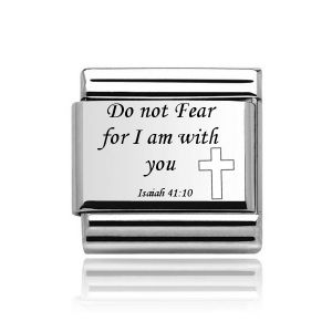 Charmlinks Silver on Silver Bible Quote Charm