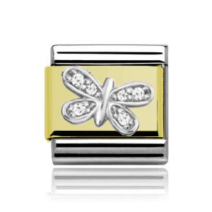 Charmlinks Gold on Silver Butterfly Charm
