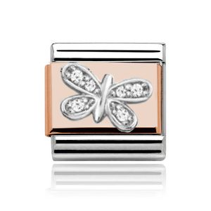 Charmlinks Rose Gold on Silver Butterfly Charm
