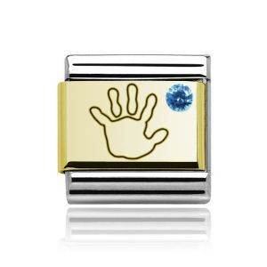 Charmlinks Yellow Gold on Silver Baby Boy Charm