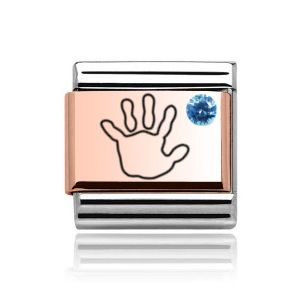 Charmlinks Rose Gold on Silver Baby Boy Charm