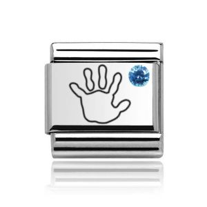Charmlinks Silver on Silver Baby Boy Charm