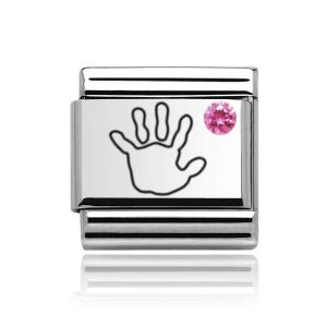 Charmlinks Silver on Silver Baby Girl Charm