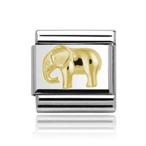 Charmlinks Yellow Gold on Silver Elephant Charm
