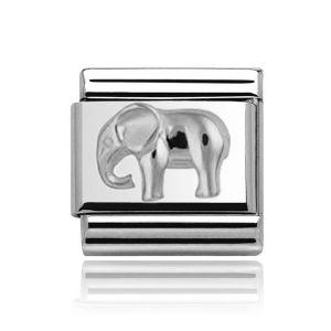 Charmlinks Silver on Silver Elephant Charm