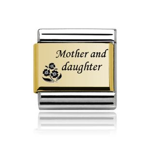 Charmlinks Yellow Gold on Silver Mother and Daughter Charm