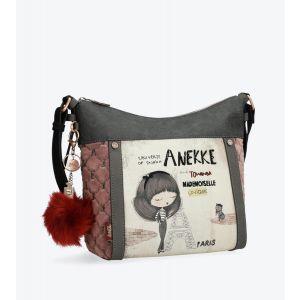 Synthetic Two Handle Anekke Handbag