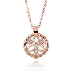 Karine & Co. Rose Gold Crystal Coin Long Necklace