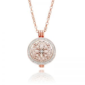K&Co. Coins Rose Gold Crystal Coin Long Necklace