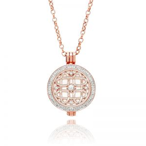 K&Co. Coins Rose Gold Crystal Celtic Coin Long Necklace