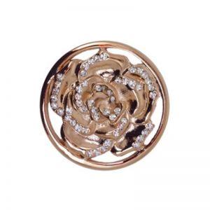 Karine & Co. Rose Gold Crystal Rose Coin