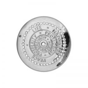 Karine & Co. Silver Crystal Happiness Coin