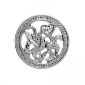 Karine & Co. Silver Crystal Dove Coin