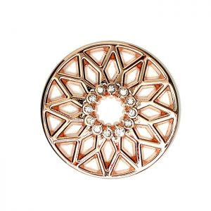 Karine & Co. Rose Gold Crystal Star Coin