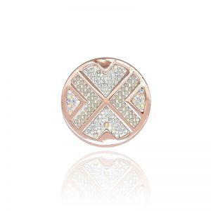Karine & Co. Rose Gold Crystal Coin
