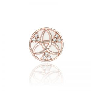 Karine & Co. Rose Gold Crystal Coin