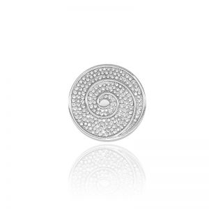 Karine & Co. Silver Crystal Coin