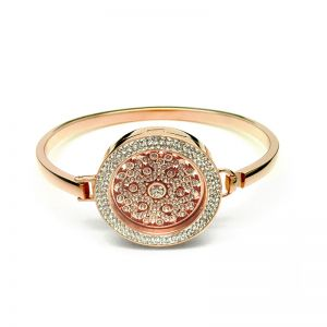 K & Co. Rose Gold Crystal Coin Bangle