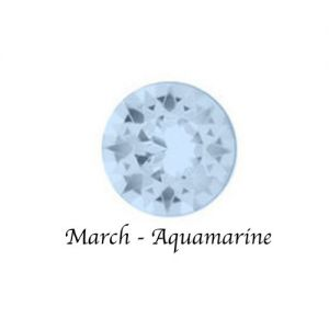 Floating Charms March Birthstone Charm - Aquamarine