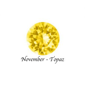Floating Charms November Birthstone Charm - Topaz