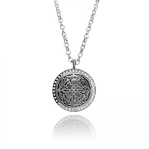 Floating Charms Silver Crystal Necklace
