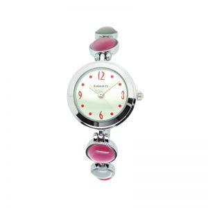 K&Co. Timepiece Pink & Silver Stone Watch