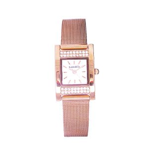 K & Co. Timepiece Ladies' Rose Gold Crystal Watch