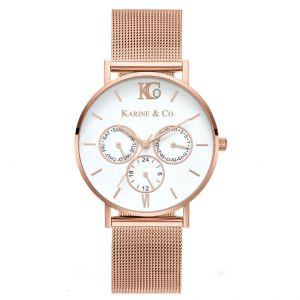 K&Co. Boheme Modern Rose Gold Mesh Watch