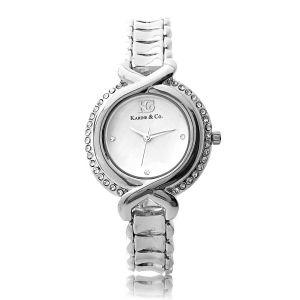 K&Co. Silver Timepiece