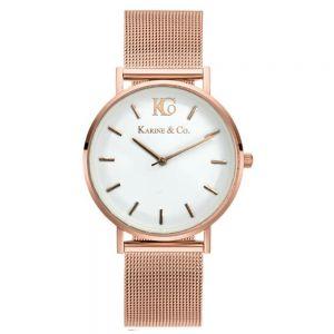K&Co. Boheme Rose Gold Mesh Watch