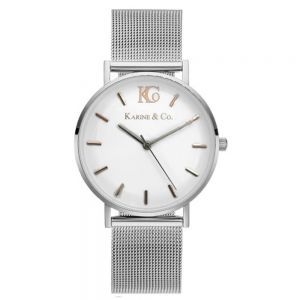 K&Co. Boheme Two Tone Silver Mesh Watch