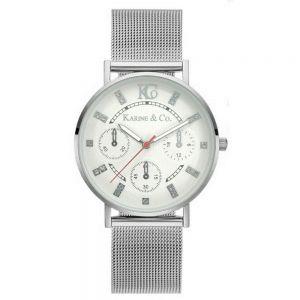 K&Co. Boheme Chronograph Effect Silver Mesh Watch