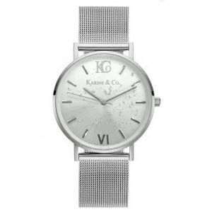 K&Co. Boheme Shimmer Silver Mesh Watch