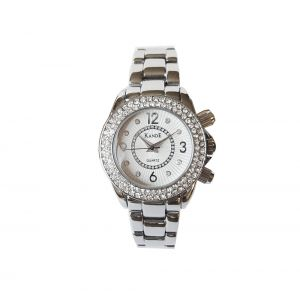 KandE Ladies' Silver Crystal Strap Watch