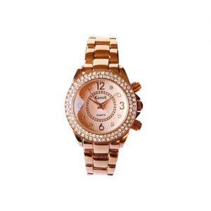 KandE Ladies' Rose Gold Crystal Strap Watch