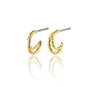 MORGAN small huggie hoop earrings gold-plated