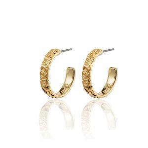 BLAIR medium hoop earrings gold-plated
