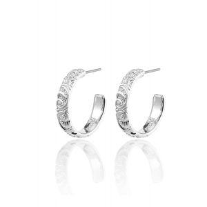 BLAIR medium hoop earrings silver-plated