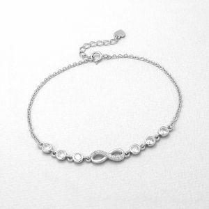 K&Co. Sterling Silver Infinity Bracelet