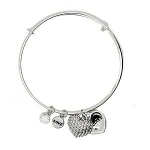 Sentiment Mother/Daughter Silver Bangle