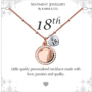 Sentiment 18th two tone necklace