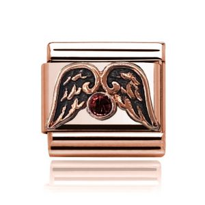 Charmlinks Rose Gold Wings and Garnet Charm