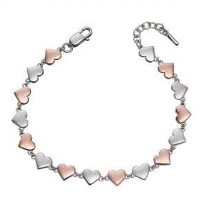 Fiorelli Mixed Metal Heart Tennis Bracelet
