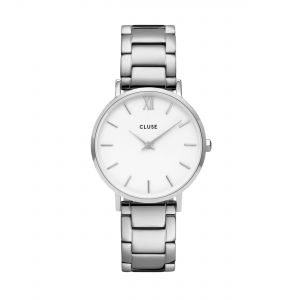 Minuit 3-Link Silver White/Silver Watch