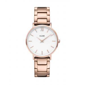 Minuit 3-Link Rose Gold White/Rose Gold Watch