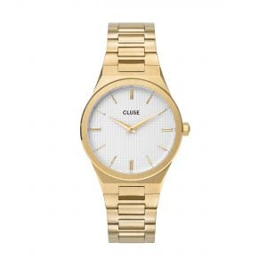 Vigoureux Steel Gold Snow White/Gold Watch