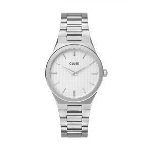 Vigoureux Steel Silver Snow White/Silver Watch