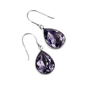 Elements Jewel Teardrop Tanzanite Swarovski Crystal Drop Earrings