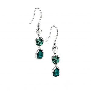 Elements Jewel Emerald & Erinite Swarovski Crystal Drop Earring