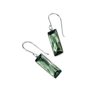 Elements Jewel Swarovski Crystal Rectangle Drop Earring